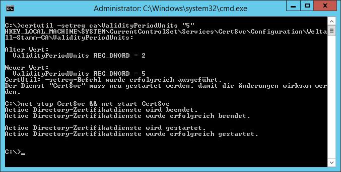 Installation einer Zertifizierungsstelle für die XenApp-Installation ...