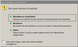 Java Update erforderlich